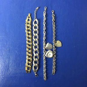 Jewelry Bracelets vintage Estate 4 piece lot